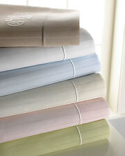 Sferra Marcus Green Cal King Sheet Set Striped 4 PC 100% Cotton Sateen 400TC NEW