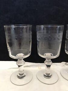 Anciens verres cristal Baccarat