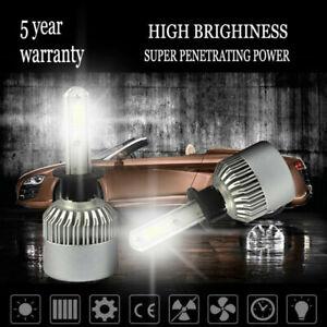 H3 6000K White 1500W 225000LM COB LED Bulbs Lamps Light Foglight Set without Fan