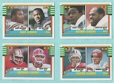 1990 Topps League Leaders complete 4 card set Sanders Montana Rice Reed Okoye