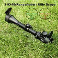 3-9x40EG Red/Green Illuminated Tactical Optical Rifle Scope Mil Dot Sight