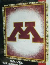 "Minnesota Golden Gophers 46""x 60"" Triple Woven Jacquard Throw Blanket Nortwest"