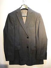 $950 Hugo Boss Grey Pinstripe Suit Jacket 38R Pasolini Wool selection tailored