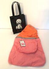 Martha Stewart Pets Dog Rain Coat/windbreaker Medium Pink & Orange