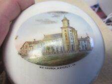 M.E CHURCH WAVERLY IOWA SOUVENIR LIDDED DRESSER DISH C O COUSE CHINA
