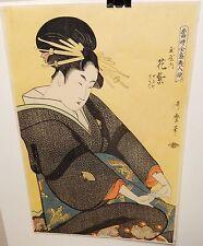 KITAGAWA UTAMARO JAPANESE WOMEN ORIGINAL WOODBLOCK SIGNED