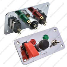 MOTORSPORT DUAL Interruttore Accensione Pannello / Push Button Start 23A 12V PISTA AUTO BARCA