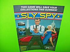 Data East SLY SPY 1989 Original NOS Video Arcade Game Promo Sales Flyer RARE