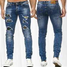 Pantalones vaqueros para hombre Pantalones de ciclista costuras Zipper Cremaller