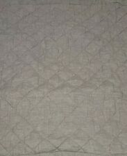 1 Pottery Barn Belgian Flax Linen Diamond Quilted Sham Euro Lavender New