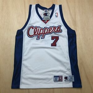 100% Authentic Lamar Odom Vintage Champion Clippers Jersey Size 44 L Mens