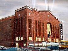 14x17 lithograph of my painting of this Detroit landmark,Red Wings home,50's era