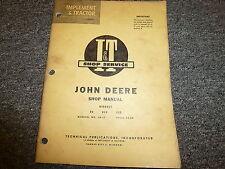 John Deere 80 820 830 Utility Tractor Shop Service Repair Manual Book Jd17