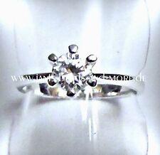 Weißgold beschichtete Modeschmuck-Ringe mit Kristall-Hauptstein für Damen