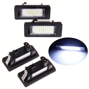 2x original bmw luz disco cubierta matrícula lámpara 3er e46 51138236269