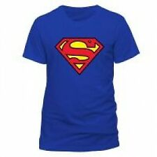 DC COMICS Superman Logo T-Shirt, Unisex, Extra Large, Blue