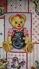 Blue Jean Teddy Bear Blossom And Friends - excellent quality - by the yard.