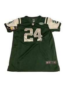 NWT NFL Nike New York Jets Jersey Youth Kids Darrelle Revis #24 Size L 14