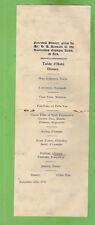 #D363. 1936 AUSTRALIAN OLYMPIC TEAM FAREWELL DINNER  MENU WITH SIGNATURES