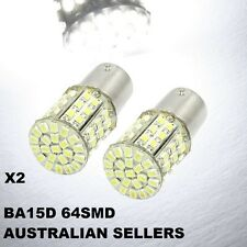 64 LED ! 1142 BA15D Cool White SMD LED Light Lamp Bulb Turn Indicator Blinker