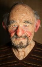 "Silicone Mask Old Man ""Rob"" Hand Made, Halloween High Quality, Realistic"