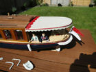 Dingy- Tender made by 3Dclever (60mm long x 40mm) and 2 Davits for the Dingy