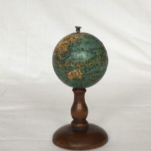 Antique Miniature Terrestrial World Globe - 1.5 inch diameter - circa 1900
