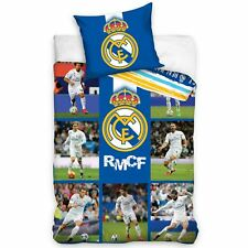 Real Madrid CF Stars Single Duvet Cover Set réversible Cotton Ronaldo ptincipaux Ramos