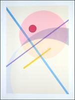 "Luigi VERONESI - ""Composizione"", 1990 - Serigrafia, 80 x 60 cm"