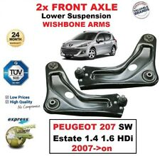 2x FRONT AXLE Lower Wishbone ARMS for PEUGEOT 207 SW Estate 1.4 1.6 HDi 2007->on