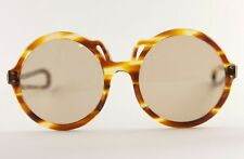 Vintage 1980s Faux Tortoise Round Sunglasses *No Return* Hand Made in France