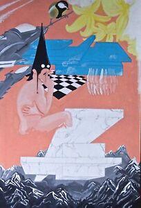 Surrealistische Pop-Art Malerei, 2013, 60cm x 90cm, Unikat, signiert