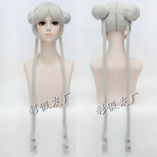 Silver White Sailor Moon Princess Serenity Tsukino Usagi Cosplay Wig + Wig Cap