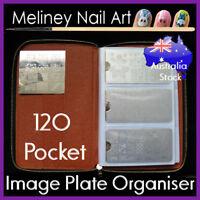 120 pocket rectangle image plate organiser holder folder case nail art stamping
