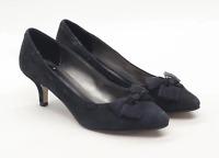 Marks & Spencer Womens UK Size 5 Black Suede Heels