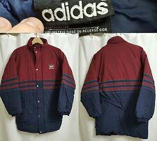 Vintage 90's ADIDAS Parka Jacket Trefoil 3 Stripes Nylon Puffer Coat Sz MEDIUM