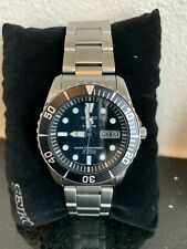 Seiko 5 Sports Black Dial Stainless Steel Silver Automatic Mens Watch SNZF17