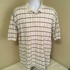 Tommy Hilfiger Golf Mens Shirt Polo XL Short Sleeve White w Green Blue Stripes