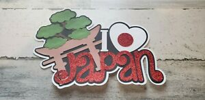Scrapbook layered I love Japan title