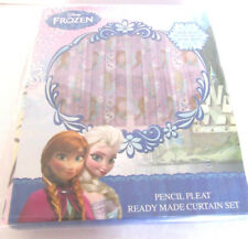 """DISNEY FROZEN PENCIL PLEAT READY MADE CURTAINS LILAC 66"""" X 72 """" TAPE TOP NEW"""