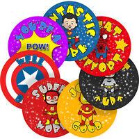 Superhero Comic Sticker Labels Children Teacher Praise Parent School