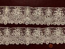 Victorian Brussels Point de gaze needle lace edging sleeve lengths - Costume