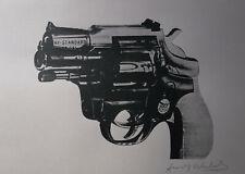 Limited POP ART edition silkscreen serigraph, Gun, signed Andy Warhol w DOCS