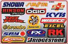 "D447 Sponsor Sponsors Racing Tuning Sticker Decal 1 Sheet 10,5""x7"" / 27x18 cm"