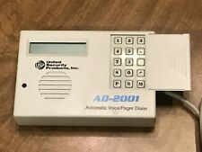 United Security Products Ad-2001 Automatic Voice/Pager Dialer