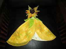 Barbie Vincent Van Gogh Sunflowers Gown 2 Piece Outfit Yellow Unique Doll Dress