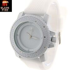 "LADIES ""BLACK FIRE WATCH"" DESIGNER STYLE ICE NATION WATCHES BRAND NEW STYLE #102"