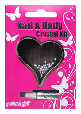 PERFECT GIRL GIRLS NAIL&BODY CRYSTAL DIAMOND GEMS NAILS ART KIT DECORATION 2272