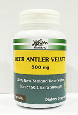 500mg x 100 capsules NEW ZEALAND DEER ANTLER VELVET EXTRACT 50:1 EXTRA STRENGTH