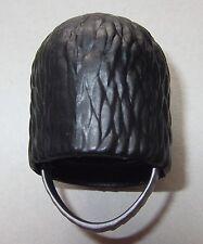 07511, 1x Bärenfellmütze, schwarz (mit Kinnriemen), silber